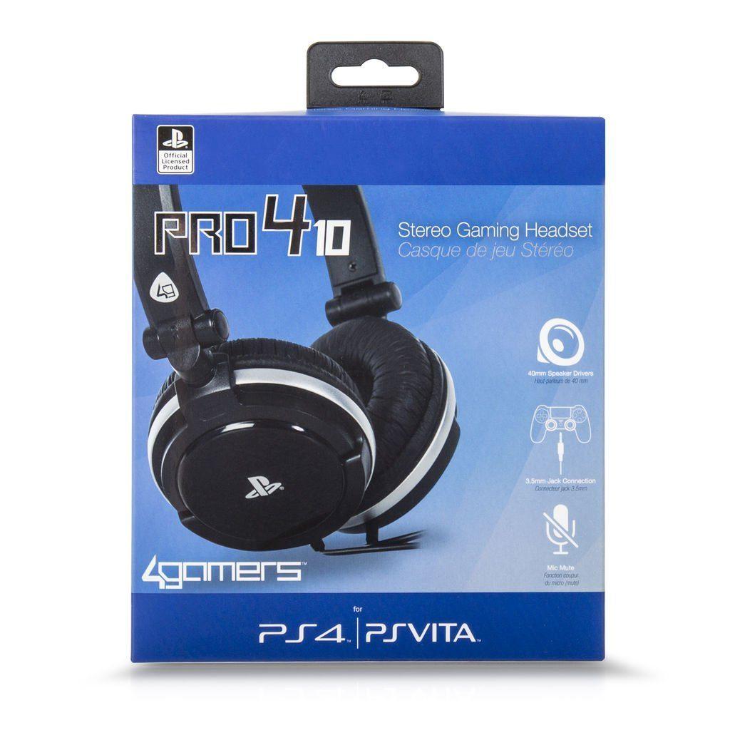 4Gamers Playstation 4 - Zubehör »Stereo Gaming Headset PS4/PSVita PRO4-10 schwarz«