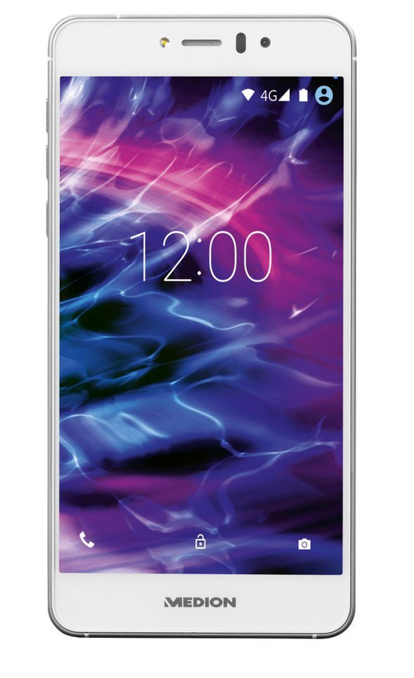 """MEDION® 12,7 cm (5"""") Smartphone »LIFE® X5020 (MD 99462) weiss« in weiss"""