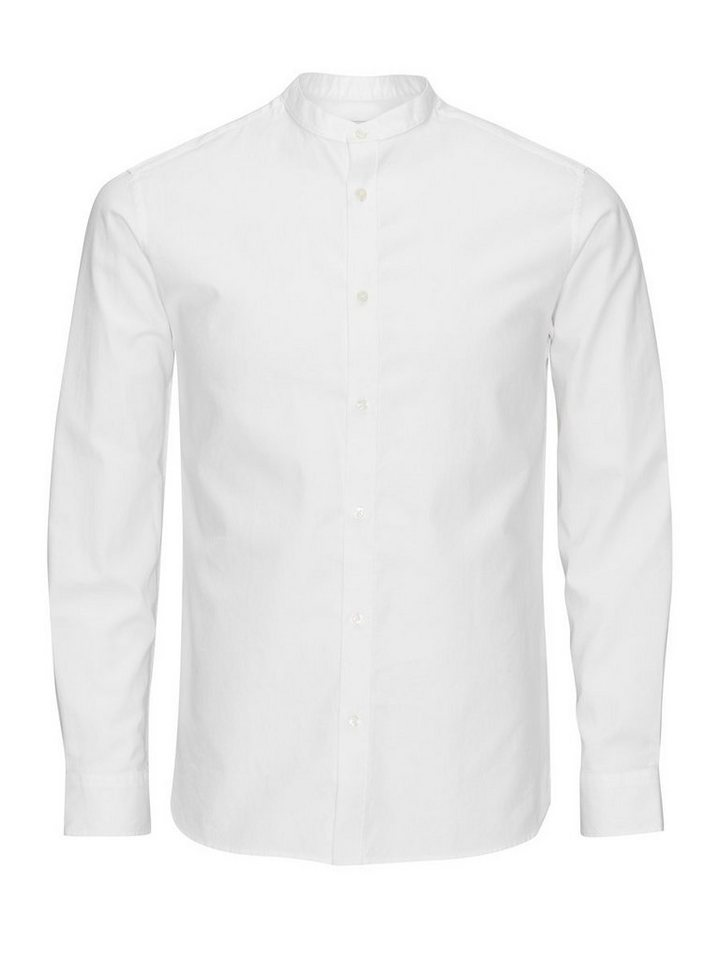 Jack & Jones Bandkragen- Hemd in White