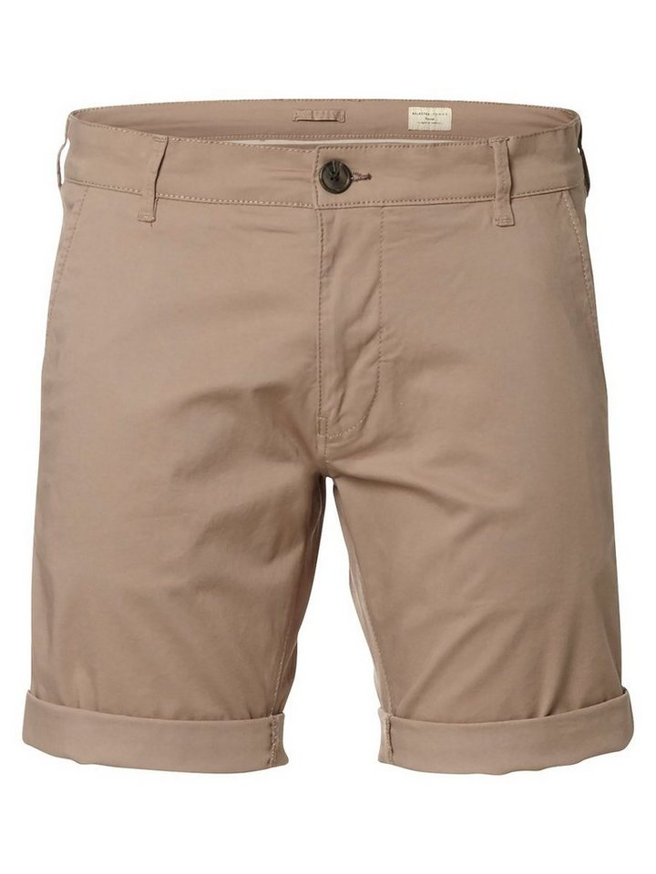 Selected Chino- Shorts in Greige