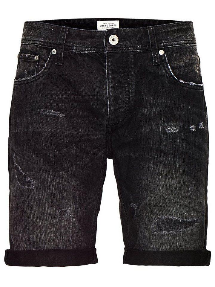 Jack & Jones 5-Taschen Jeansshorts in Black Denim