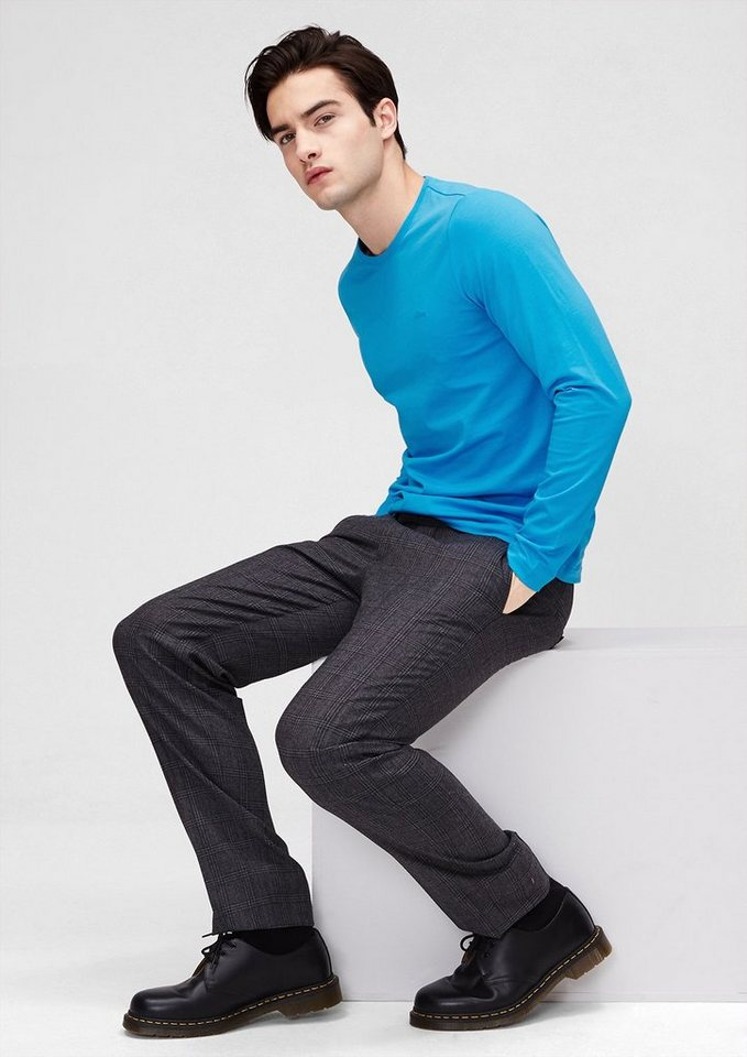 s.Oliver Schmales Longsleeve in dolphin