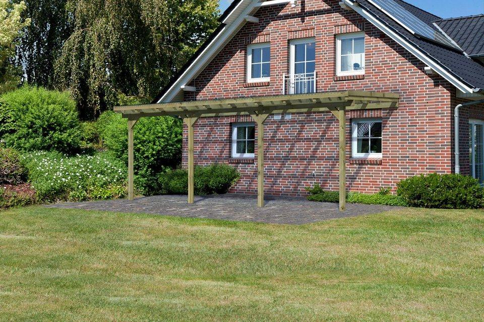 Terrassendach »Eco Gr. C«, B: 622 cm, 3 verschiedene Tiefen in natur