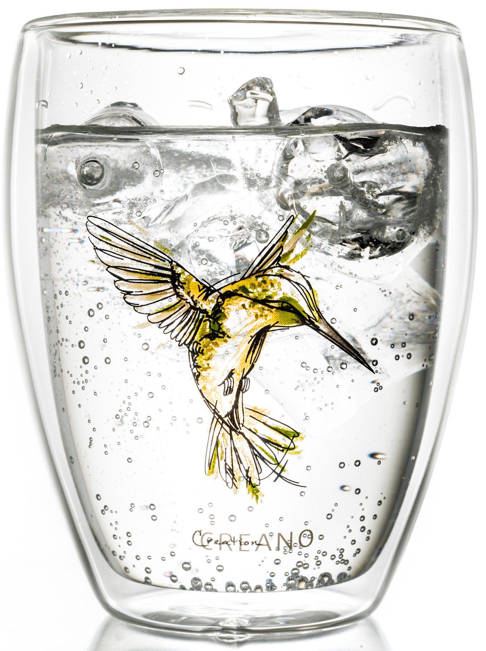 Creano Thermo-Glas, gelb, doppelwandiges Tee-Glas, Latte Macchiato Glas, »Hummi«