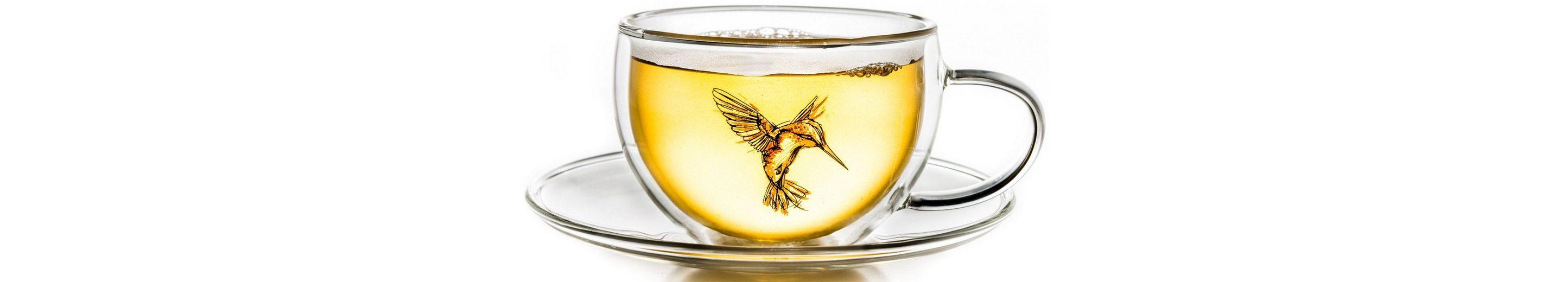Creano Thermo-Tasse, rot, doppelwandige Tee-Tasse, Latte Macchiato Tasse, »Hummi«