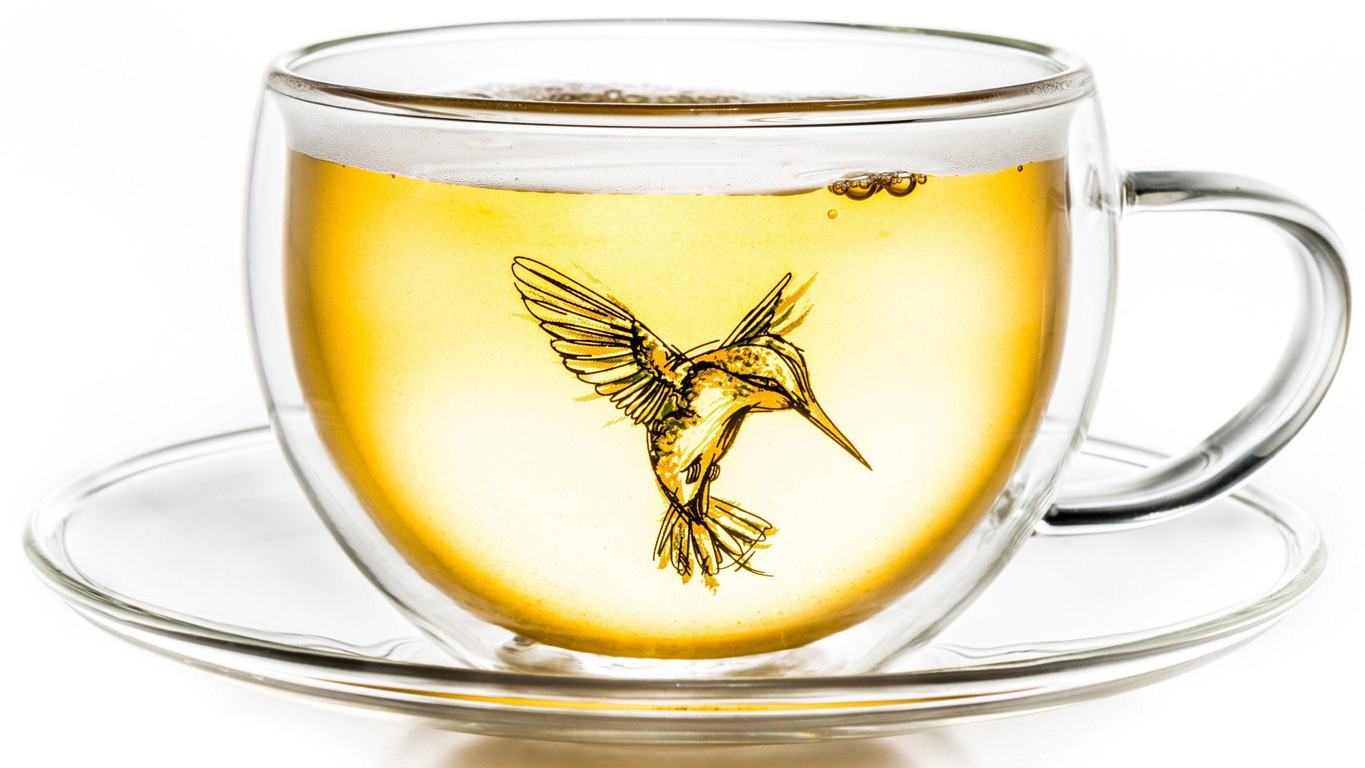 Creano Thermo-Tasse, grün, doppelwandige Tee-Tasse, Latte Macchiato Tasse, »Hummi«
