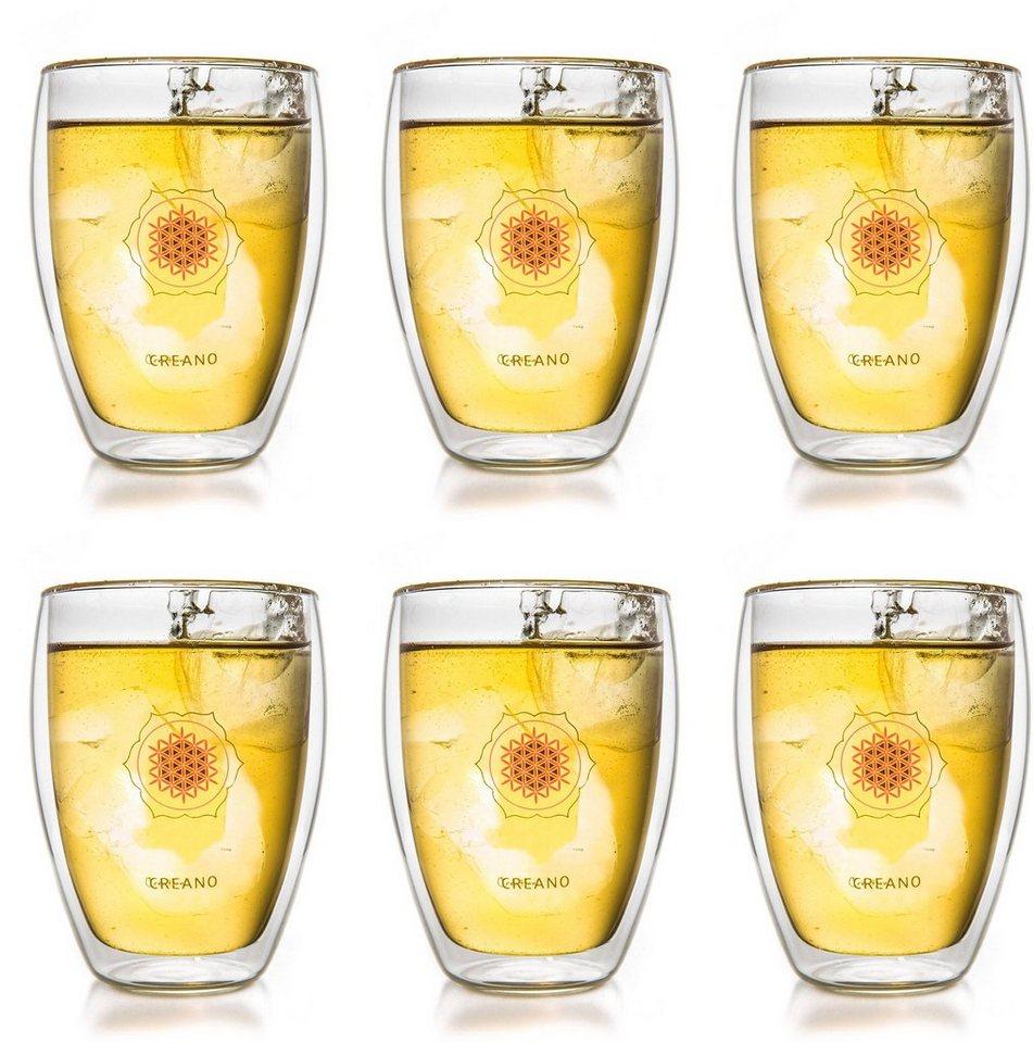 Creano Thermo-Glas, »Blume des Lebens« in transparent