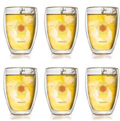 Creano Thermoglas »Blume des Lebens«, Glas, 6-teilig