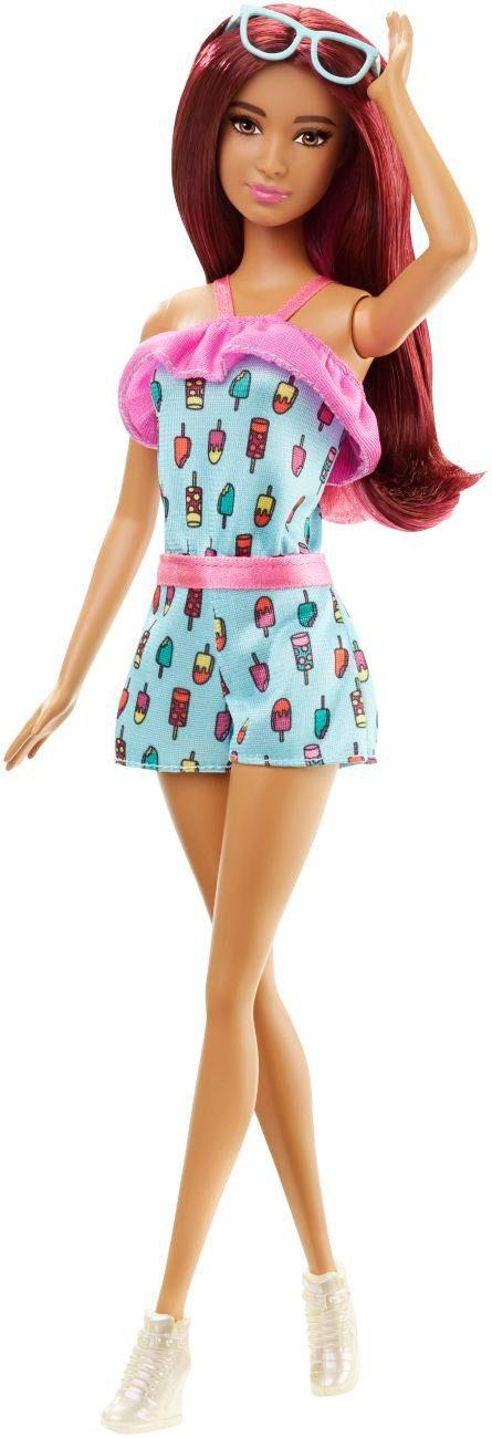 Mattel Puppe mit Zubehör, »Barbie Fashionista im Jump Suit mit Eiscreme Print«