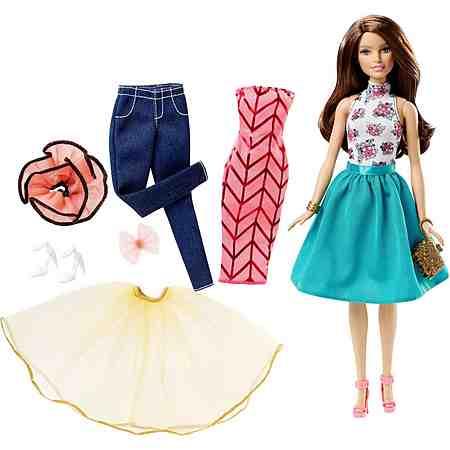Mattel Puppenset, »Barbie Teresa und Modeset zum kombinieren« (10tlg.)