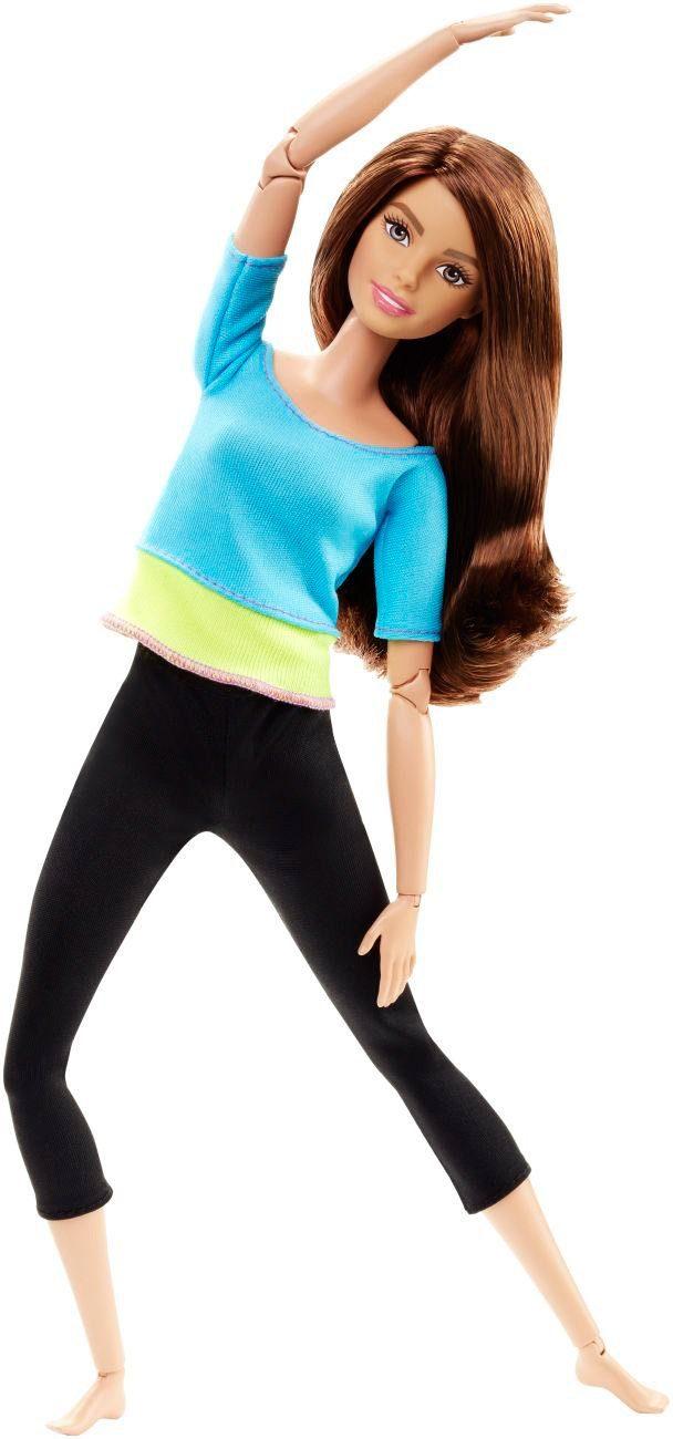 Mattel Bewegliche Puppe, »Barbie Made to Move mit blauem Top«