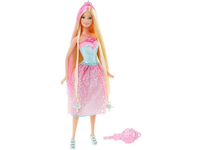Mattel Puppe mit langen Haaren, »Barbie 4 Königreiche Zauberhaar Prinzessin Pink«
