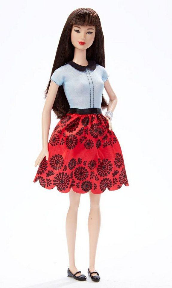 Mattel Puppe im Sommeroutfit, »Barbie Fashionista im roten Blumenkleid«