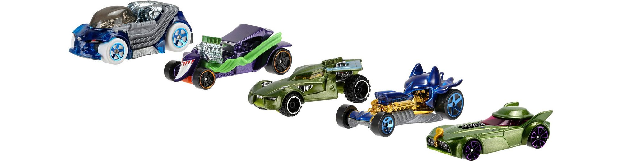 Mattel Spielzeugautoset, »Hot Wheels® DC Batman & die Schurken Character Car« (5er Pack)