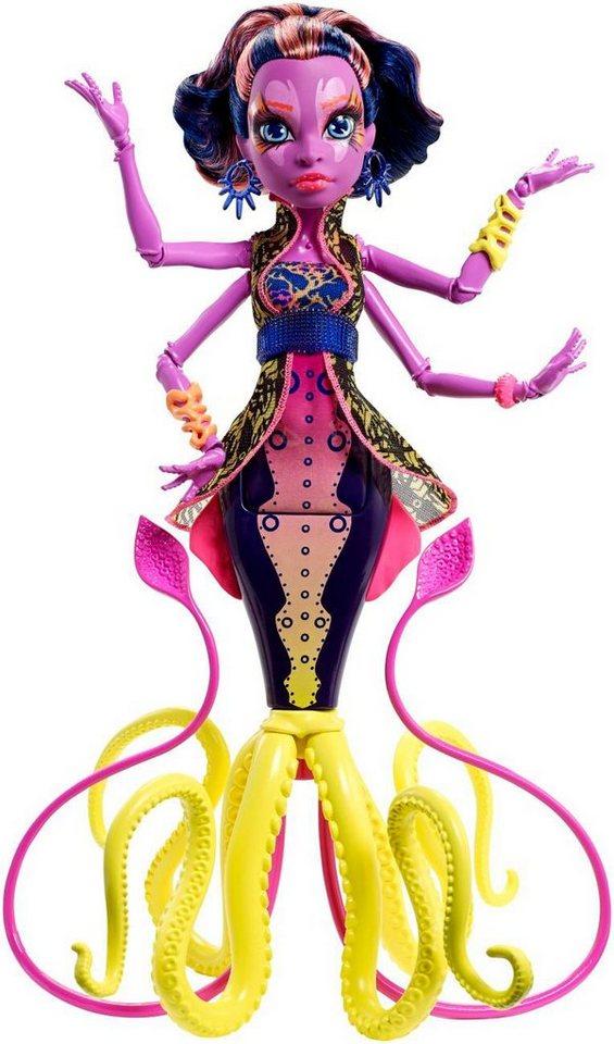 Mattel Fluoreszierende Puppe, »Monster High Das große Schreckensriff-Schülerinnen Kala Mer´ri«