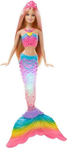 Mattel® Meerjungfrauenpuppe »Barbie Dreamtopia Regenbogenlicht-Meerjungfrau, blond« (Set, Barbie 4 Königreiche)