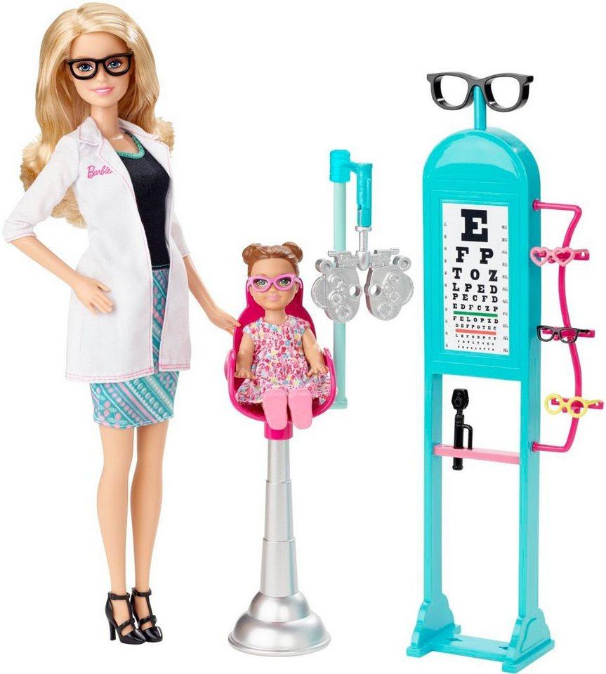 Mattel Puppenspielset, »Barbie Ich wäre gern... Augenärztin«