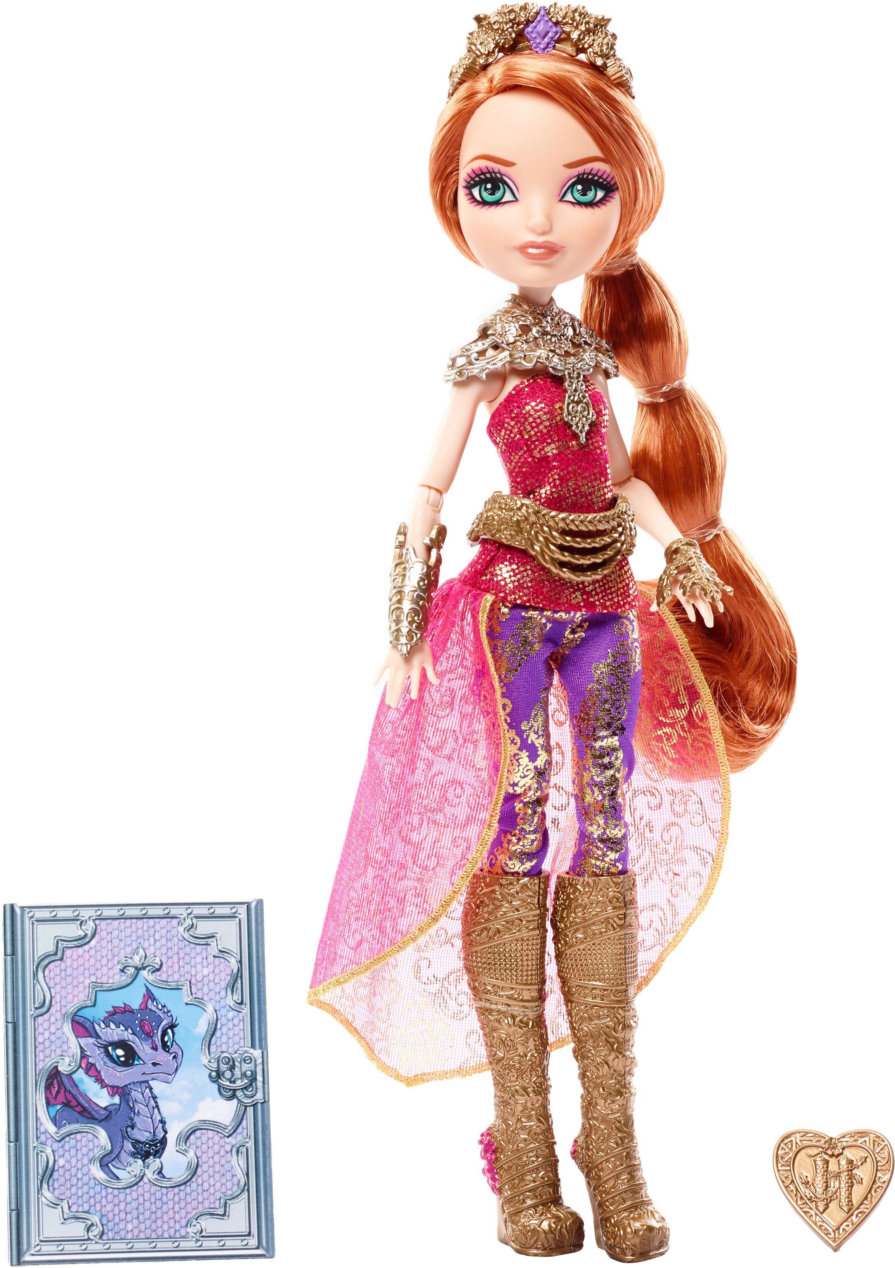 Mattel Puppe mit Schild, »Ever After High Drachenspiele Holly O´Hair«