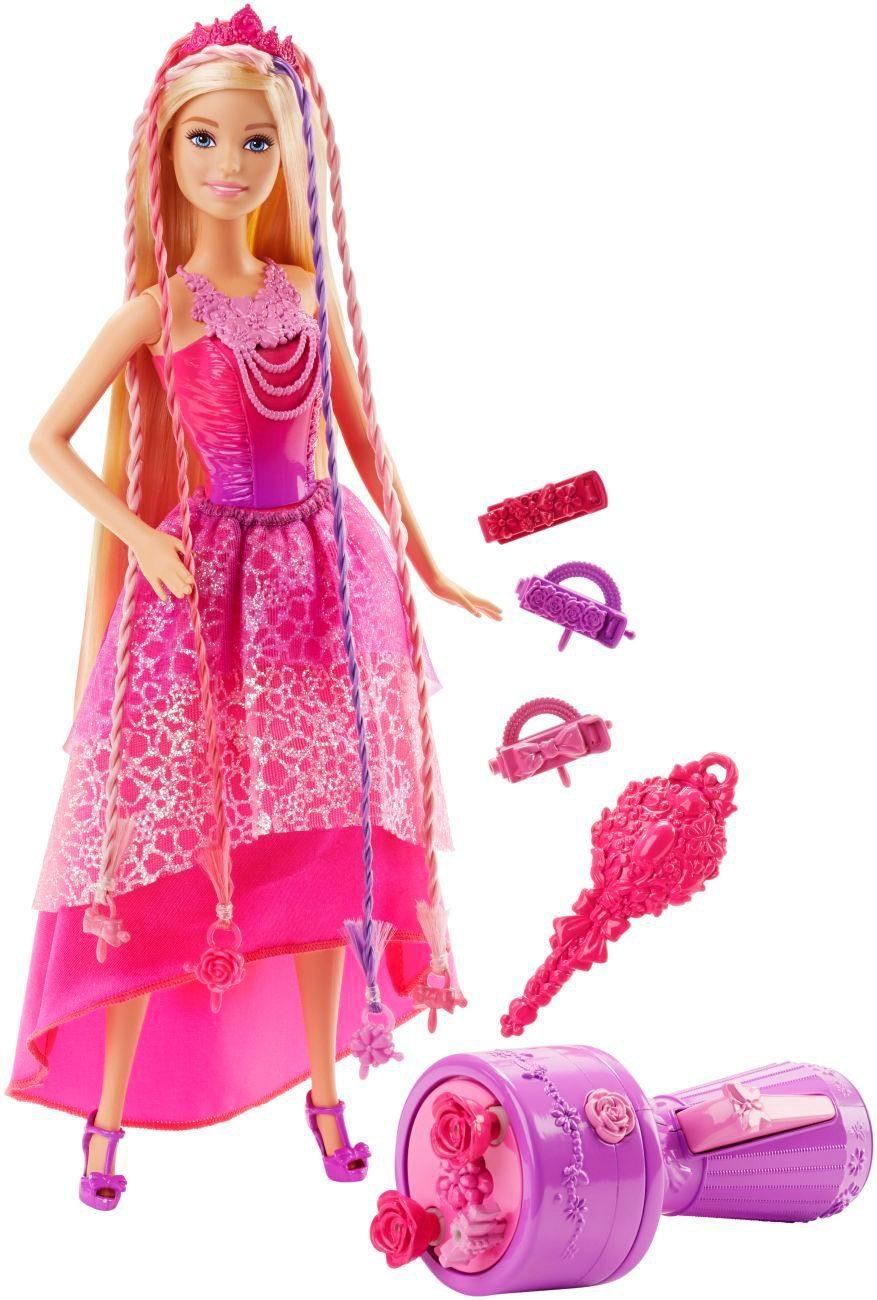 Mattel, Puppe mit langem Haar, »Barbie 4 Königreiche Zauberhaar Flechtspaß Prinzessin«