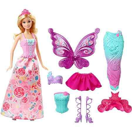 Mattel Puppe mit Wechseloutfits, »Barbie 4 Königreiche Bonbon 3in1 Fantasie Barbie«