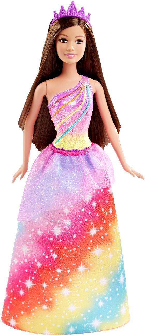 Mattel, Puppe mit Krone, »Barbie Regenbogen Prinzessin«