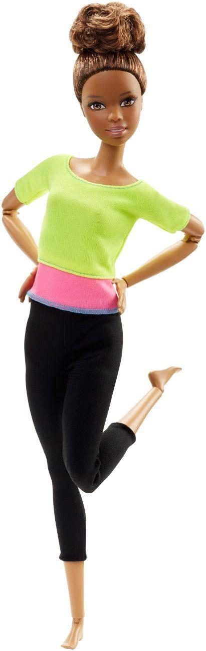 Mattel Gelenkige Puppe, »Barbie Made to Move mit gelben Top«
