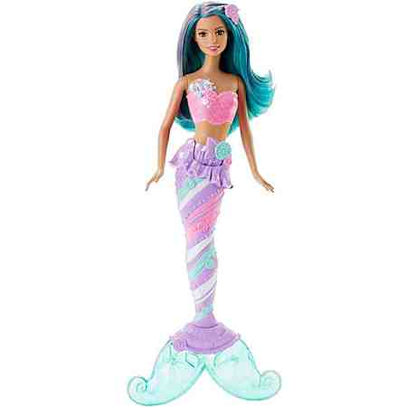 Mattel Puppe mit Haarschmuck, »Barbie Bonbon Meerjungfrau«