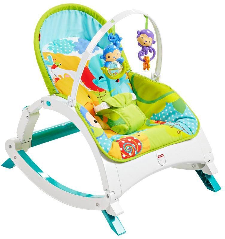 Fisher Price Babywippe, »2in1 Rainforest Kompakt Schaukelsitz«