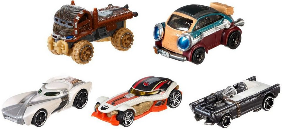 Mattel Spielzeugautoset, »Hot Wheels® Disney Star Wars Helden des Widerstands« (5er Pack)