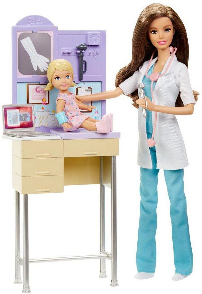 Mattel Puppenspielset, »Barbie Ich wäre gern... Kinderärztin«