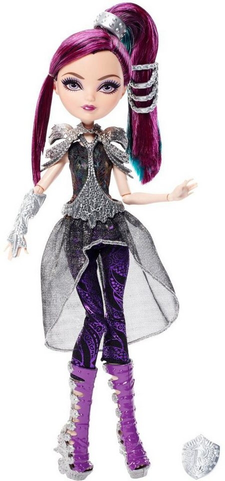 Mattel Puppe mit Schild, »Ever After High Drachenspiele Raven Queen«