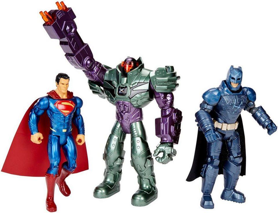 Mattel Actionfigurenset, »Batman v Superman Dawn of Justice Basisfiguren« (3er Pack)