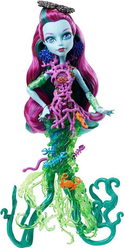 Mattel Puppe mit Leuchteffekten, »Monster High DGS Schreckensriff-Schülerinnen Posea Reef«