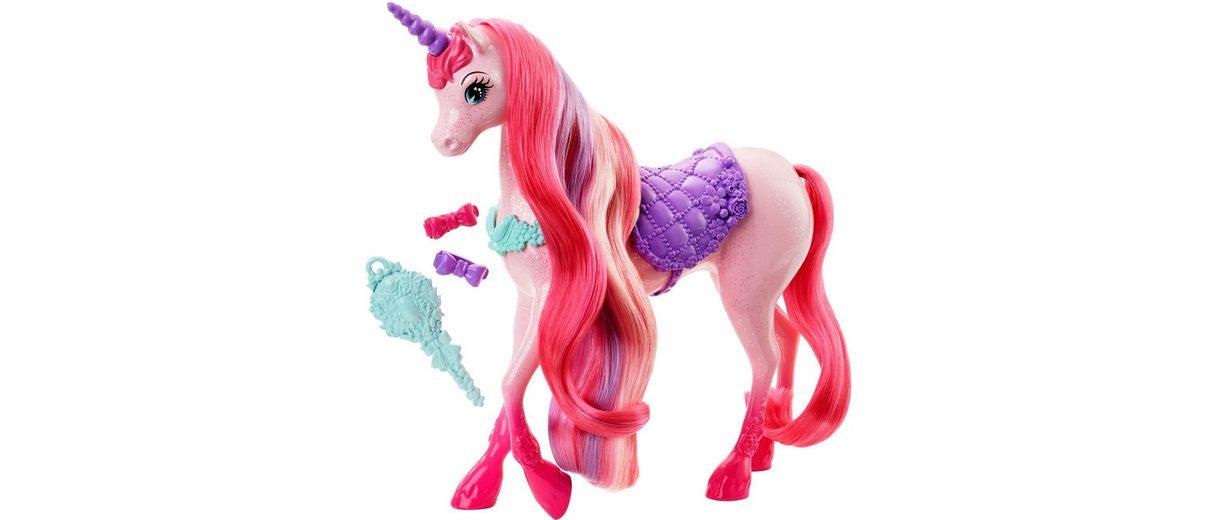 Mattel Pferd mit langer Mähne, »Barbie 4 Königreiche Zauberhaar Einhorn«