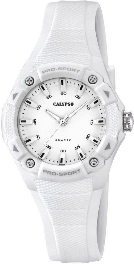 Calypso Armbanduhr, »K5675/1« in weiß