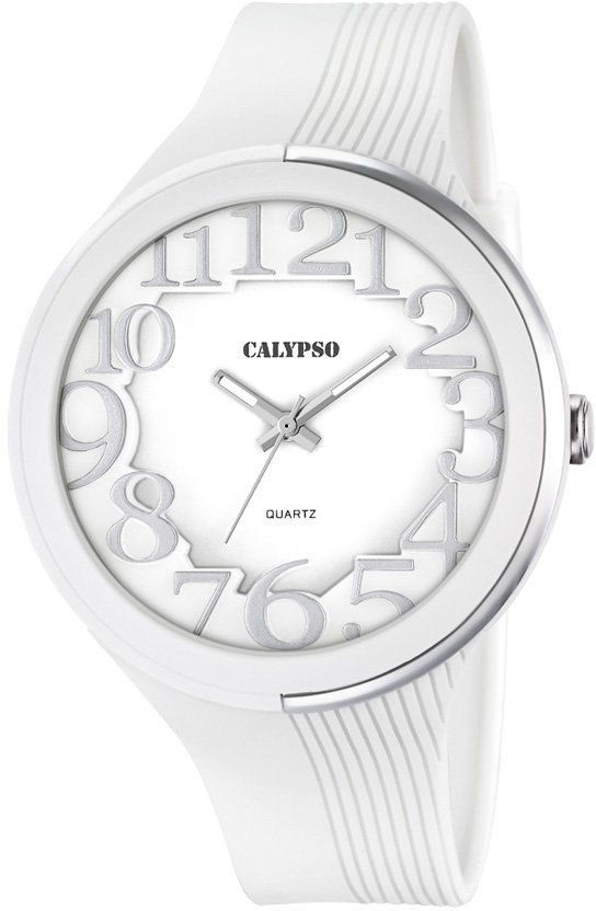 Calypso Armbanduhr, »K5706/1« in weiß