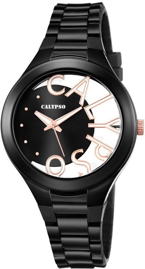 Calypso Armbanduhr, »K5678/8« in schwarz