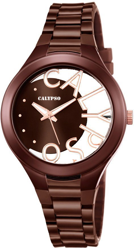 CALYPSO WATCHES Quarzuhr »K5678/3« in braun