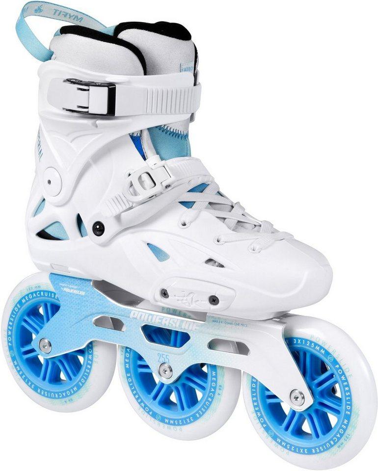 Powerslide Inline Skates, Triskates, »Imperial Megacruiser White« in weiß-blau