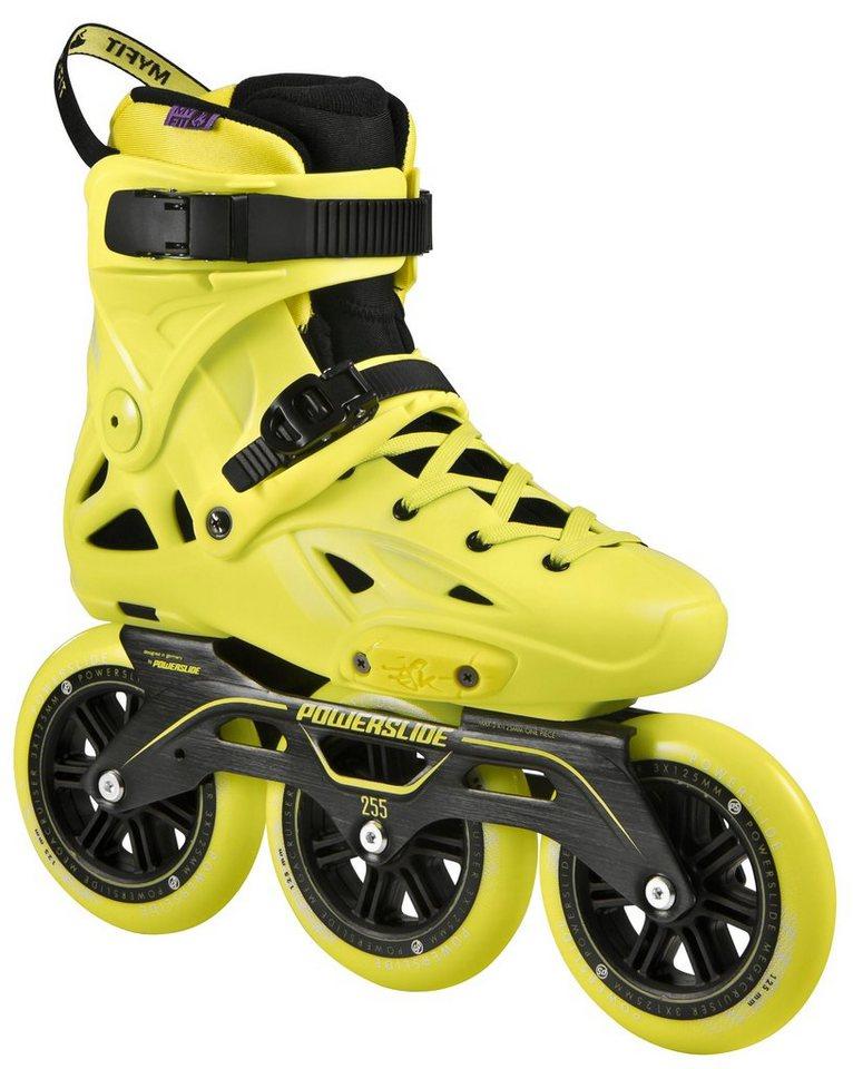 Powerslide Inline Skates, Triskates, »Imperial Megacruiser Yellow« in gelb-schwarz