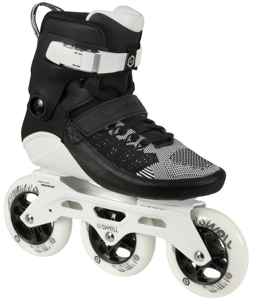 Powerslide Inline Skates, Triskates, »Swell 110 Black« in schwarz-weiß