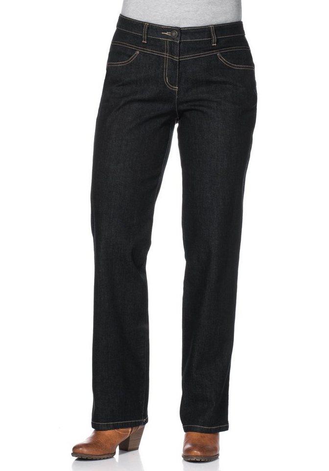 sheego Denim Gerade Stretch-Jeans in blue black denim