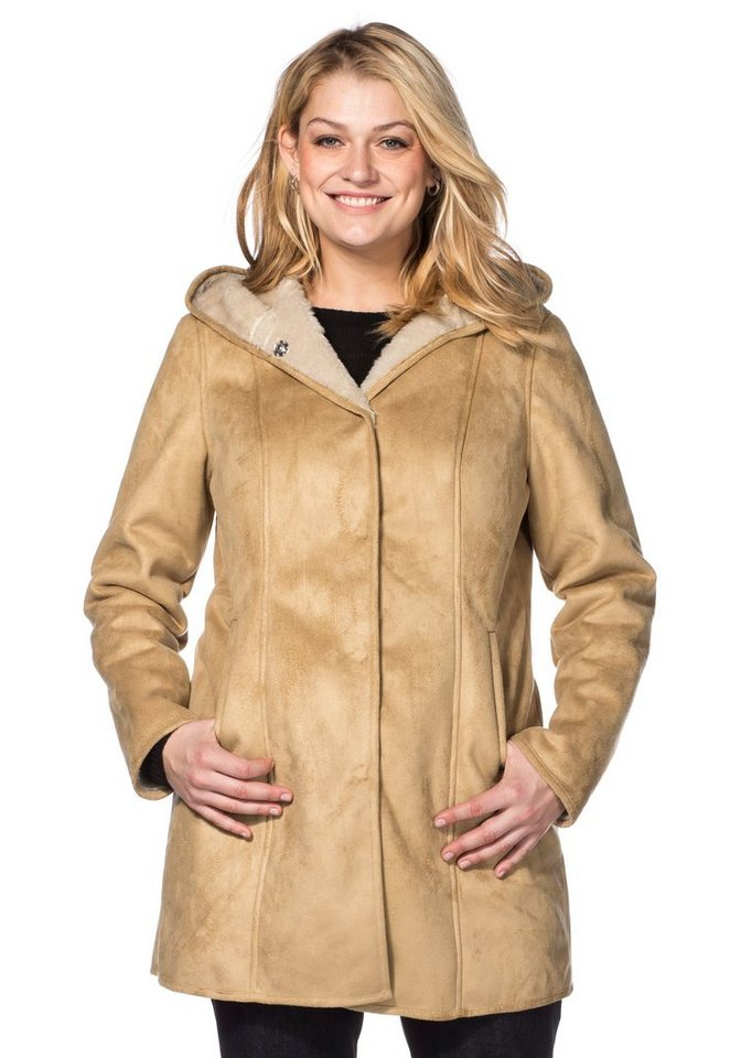sheego Casual Parka in camel