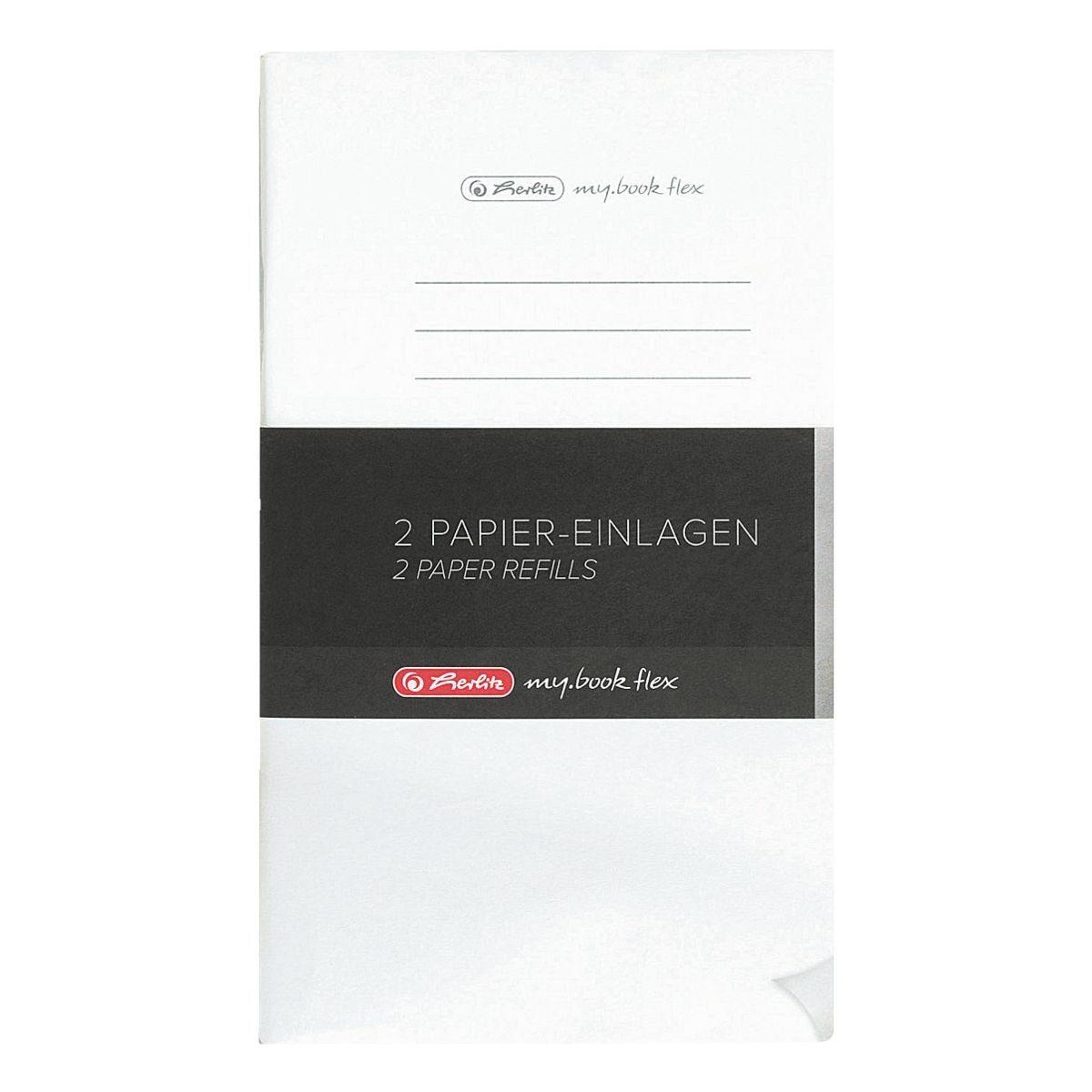 2er-Pack Papiereinlagen A5 liniert - 2x 80 Seiten »my.book flex«