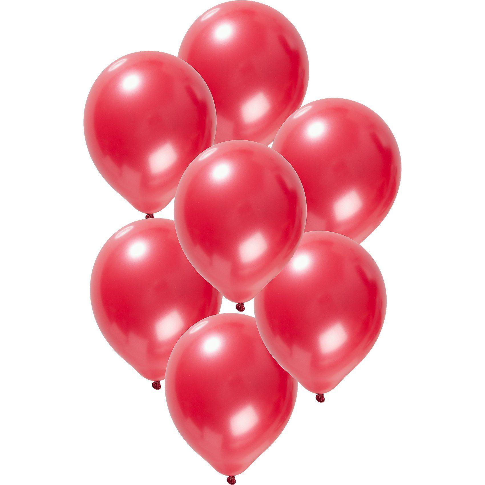 Luftballons metallic rot 30 cm, 50 Stück