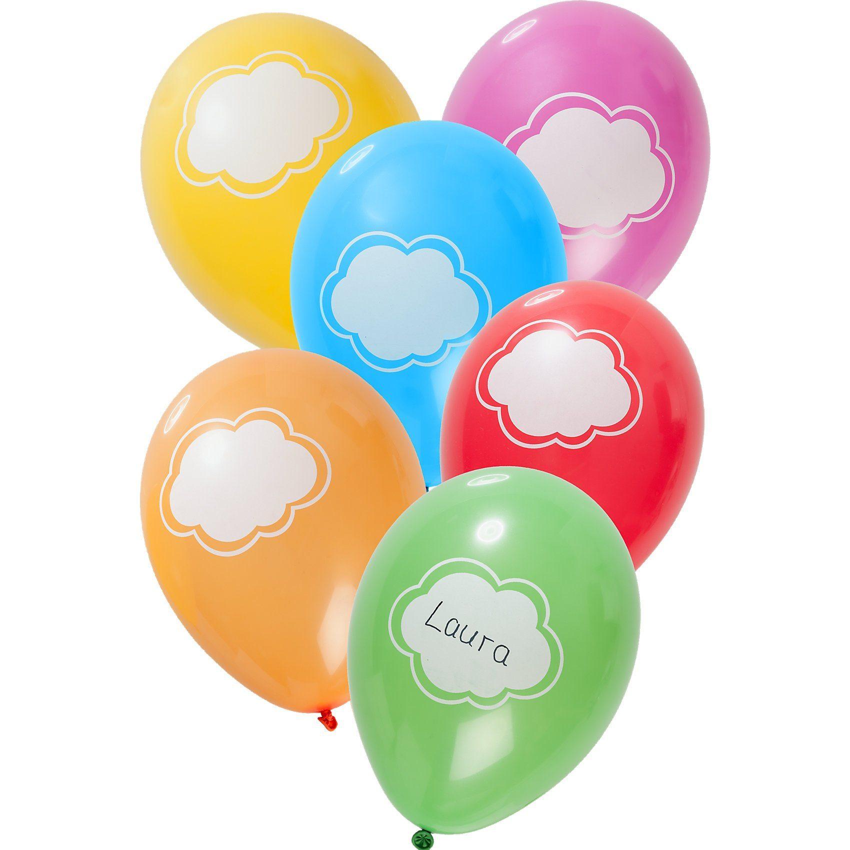 Luftballons beschreibbar 30 cm, 6 Stück