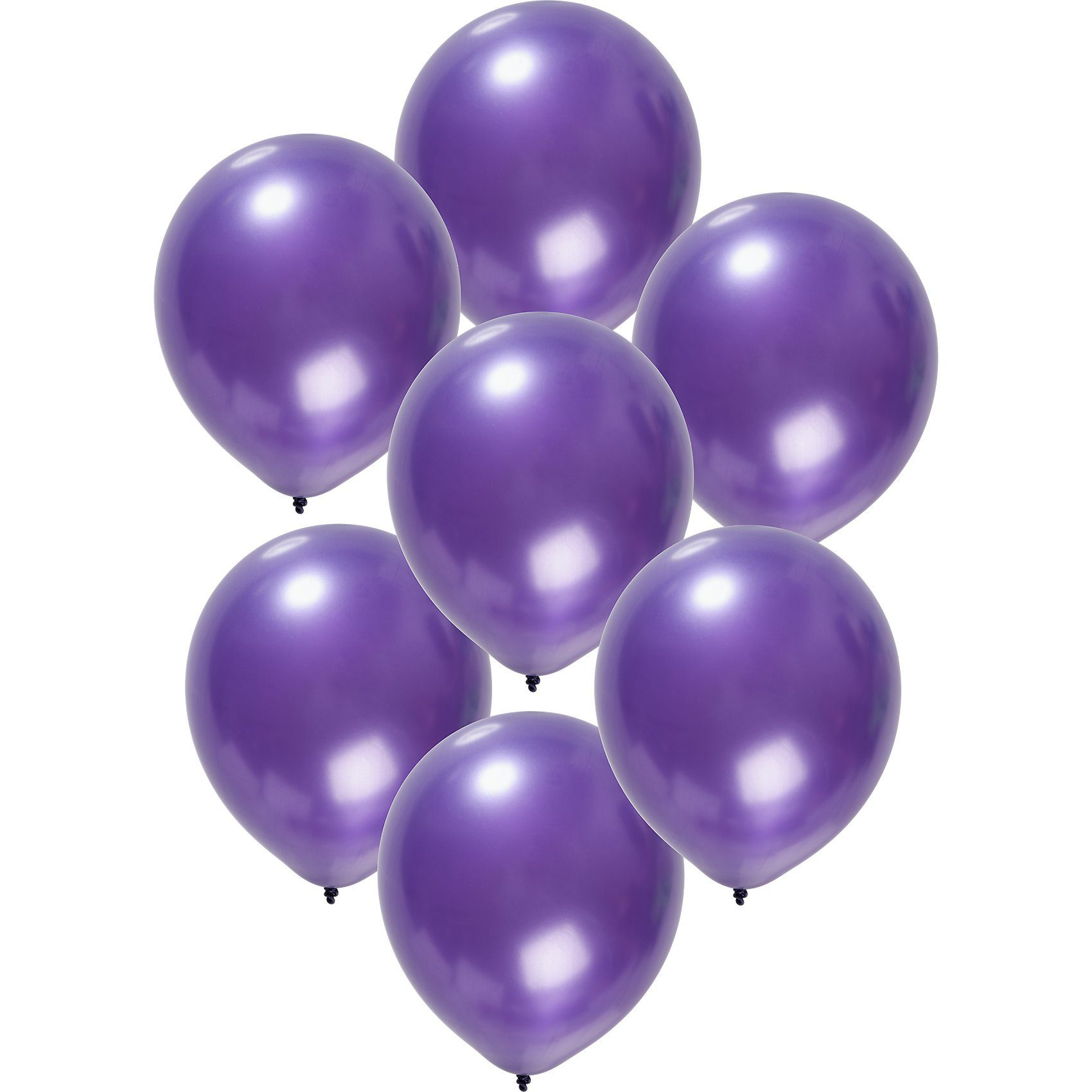 Luftballons metallic lila 30 cm, 50 Stück