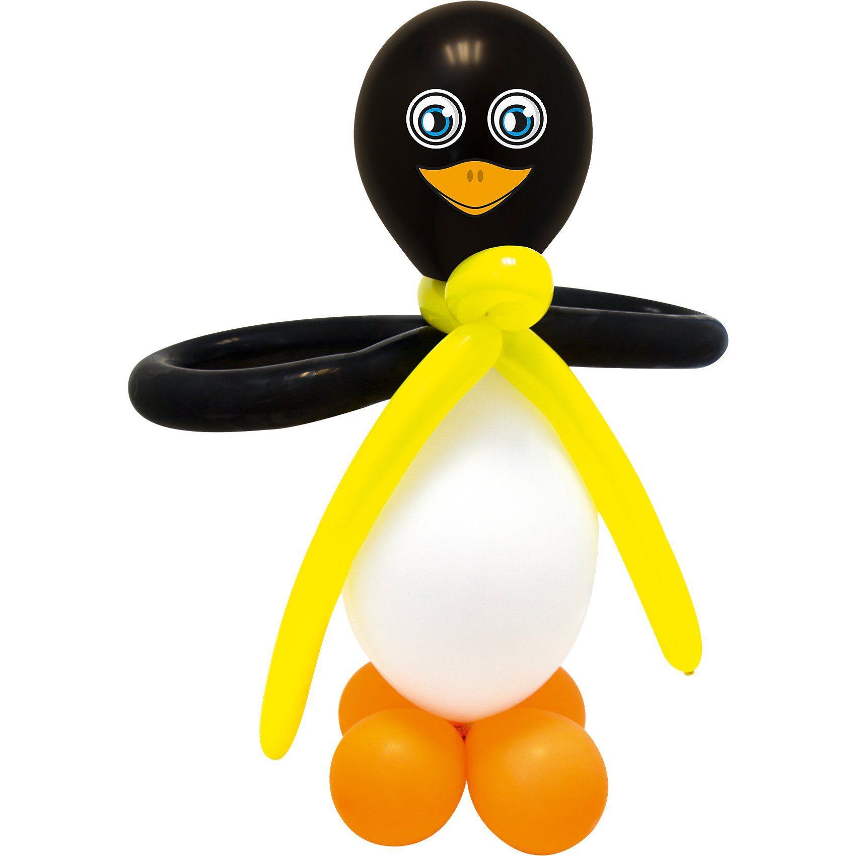 Luftballonsbastelset Pinguin