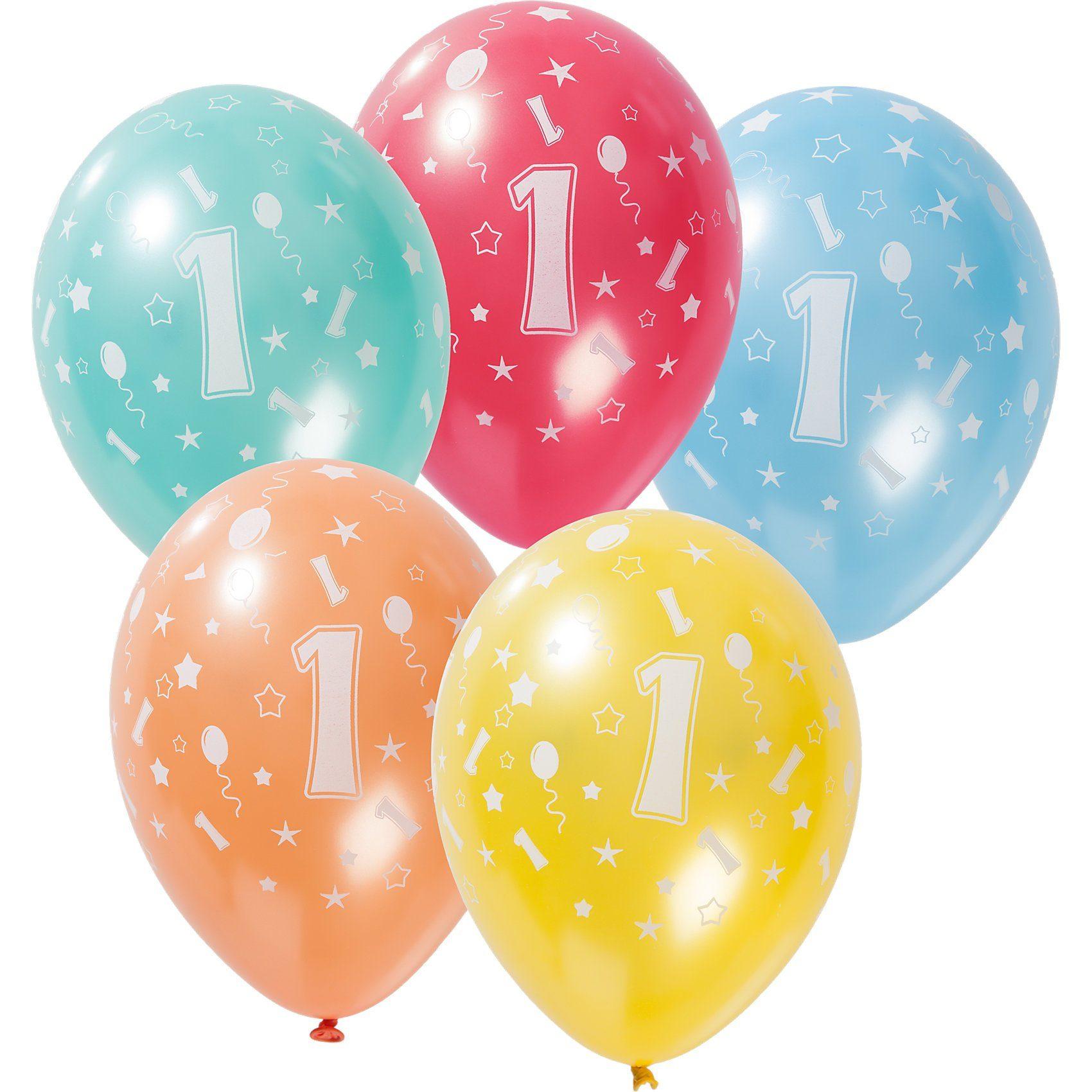Zahlenluftballon 1, 5 Stück
