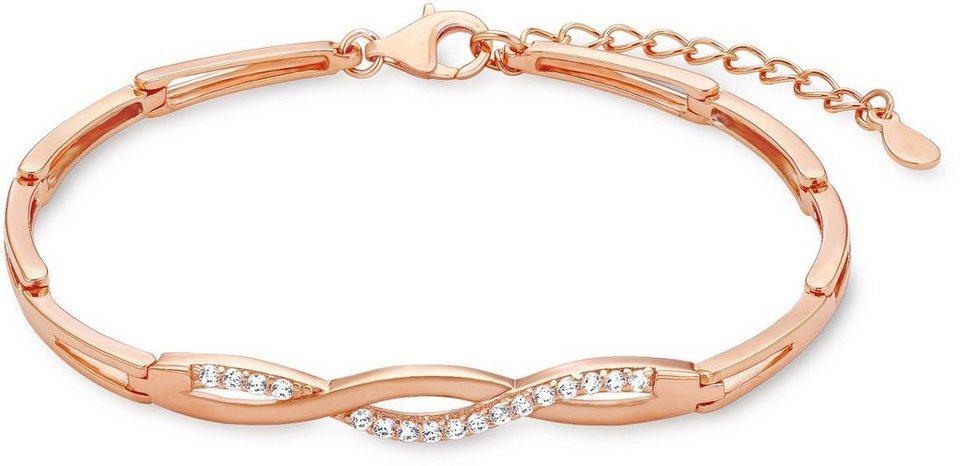 Amor Armband mit Zirkonia, »E108/3 539210« in Silber 925-roségoldfarben